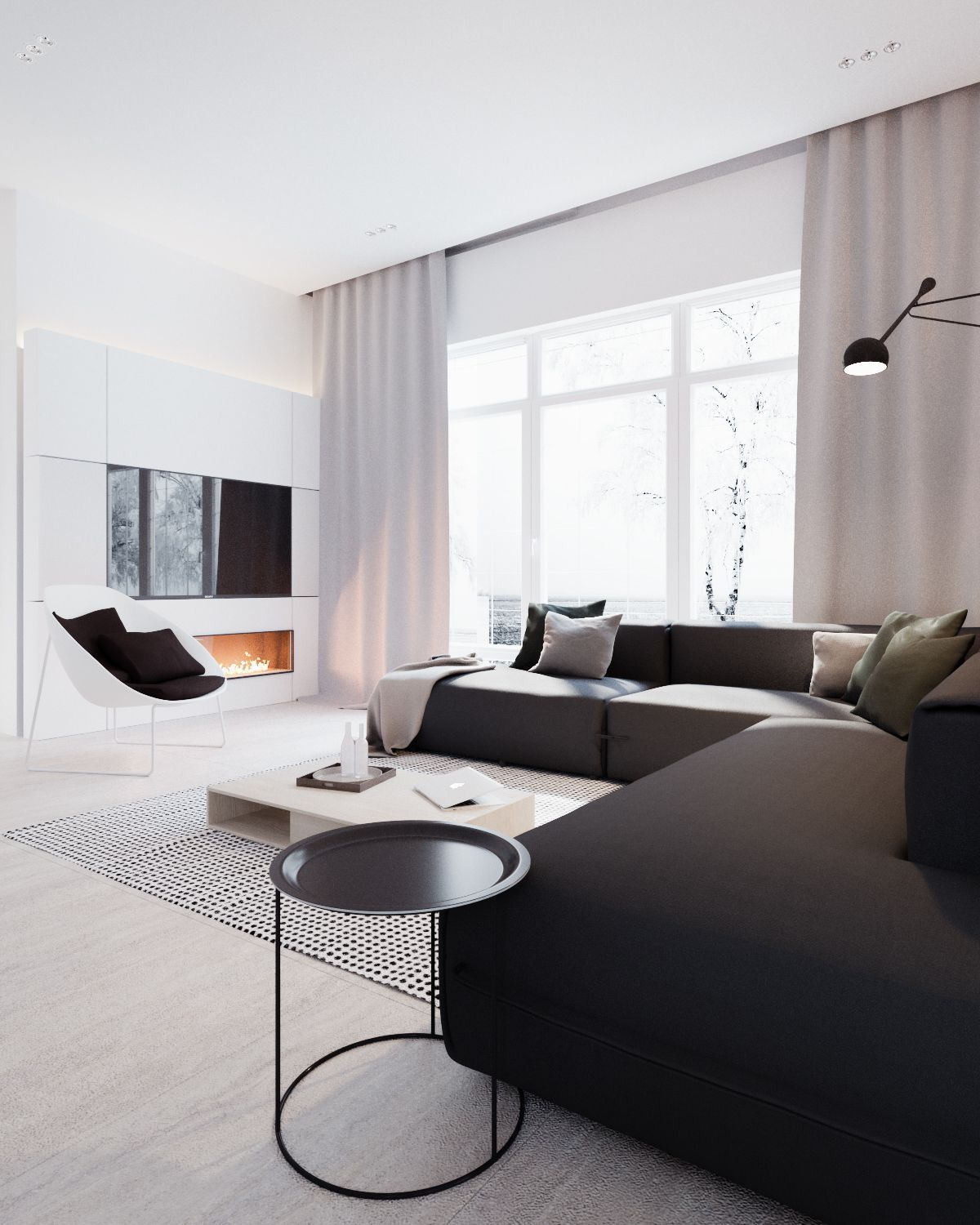 Wohnzimmer Minimalistisch Modern Stylish Apartment Interior Design In A Simplicity