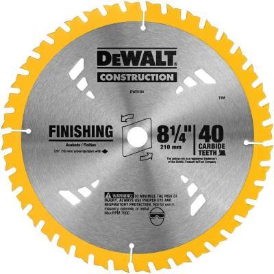 Dewalt 8 1 4 In 40t Carbide Thin Kerf Circular Saw Blade Circular Saw Blades Dewalt Circular Saw