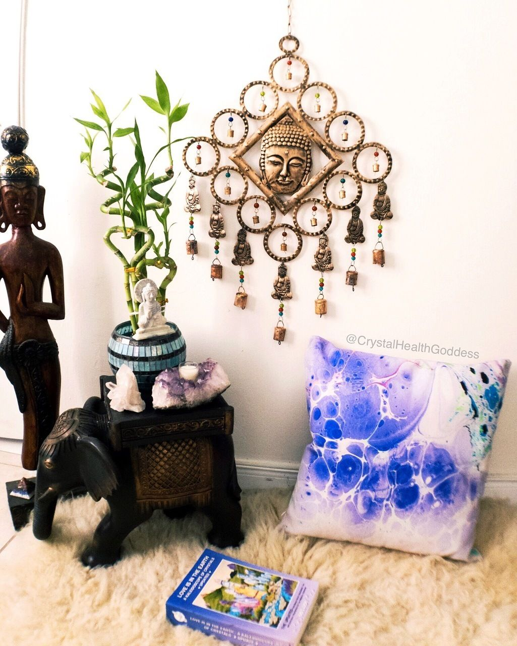 Large Buddha Wind Chime Spiritual Home Decor For Indoor Or