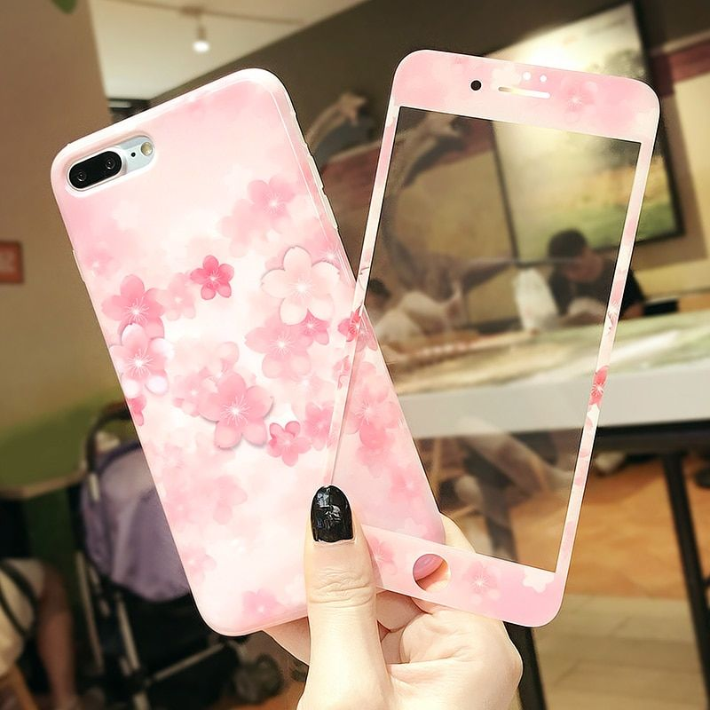Luxury peach blossom iphone case iphone cases for iphone