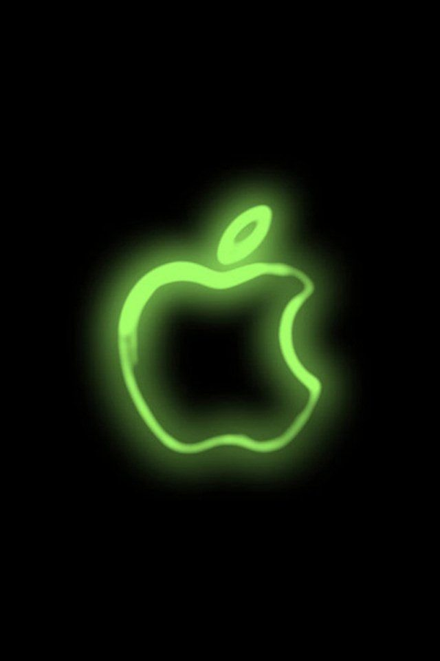 Neon Green Apple Symbol Apple Logo Wallpaper Wallpaper Iphone Neon Apple Wallpaper