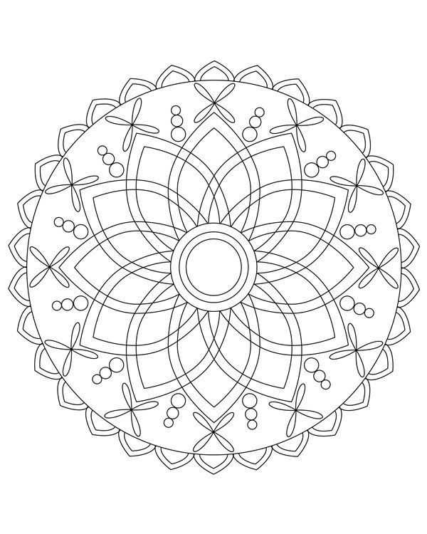 Mandala coloring pages Mandala coloring book Adult от hedehede ...