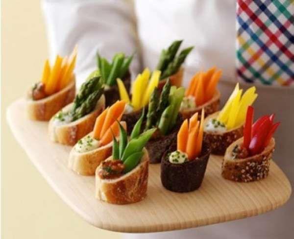 14 id es app tissantes pour servir les l gumes piquer for Canape aperitif marmiton