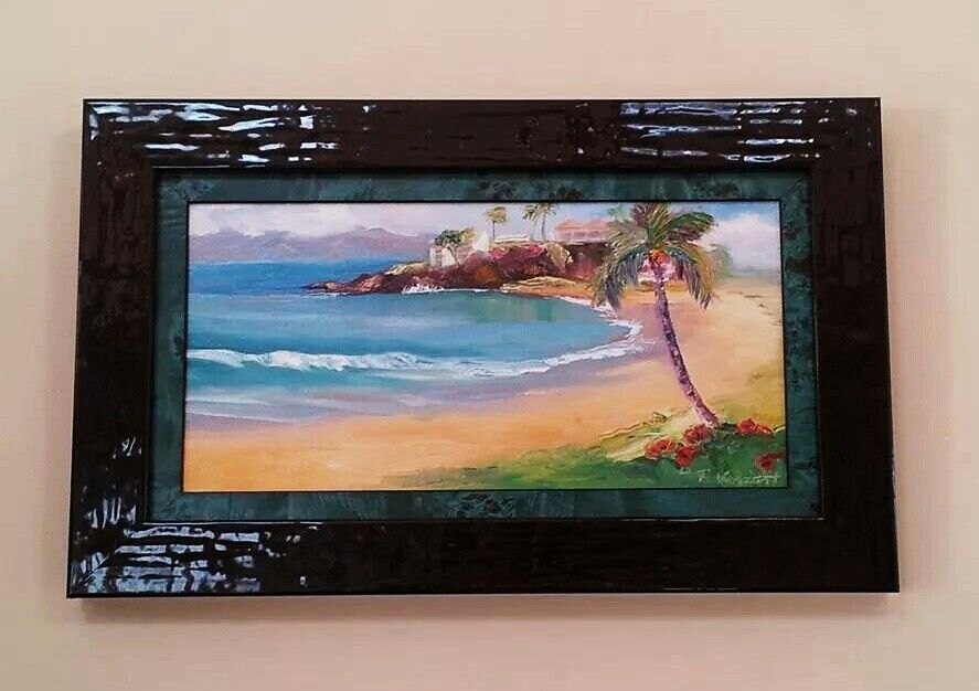 Oil on canvas board, Black Rock Maui