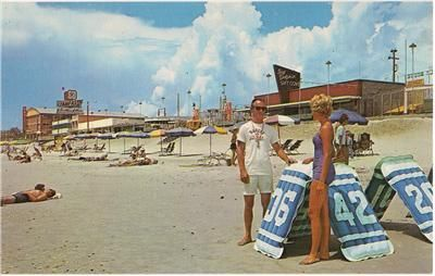 1960s Myrtle Beach Sc Postcard Dolphin Old Pavilion Liuard