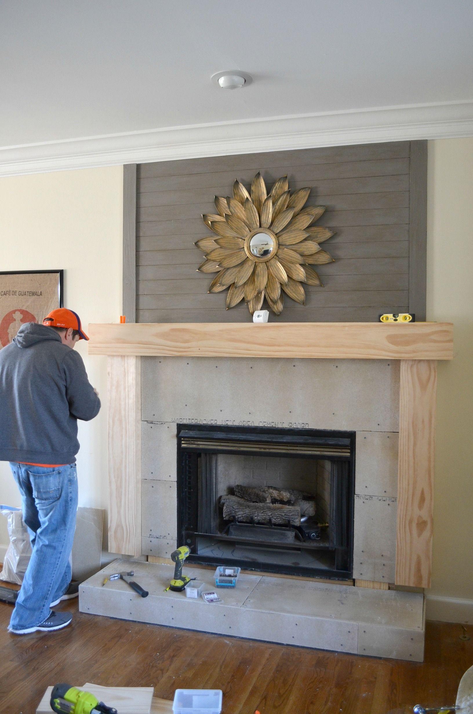 DIY Fireplace Makeover in 2020 Diy fireplace makeover