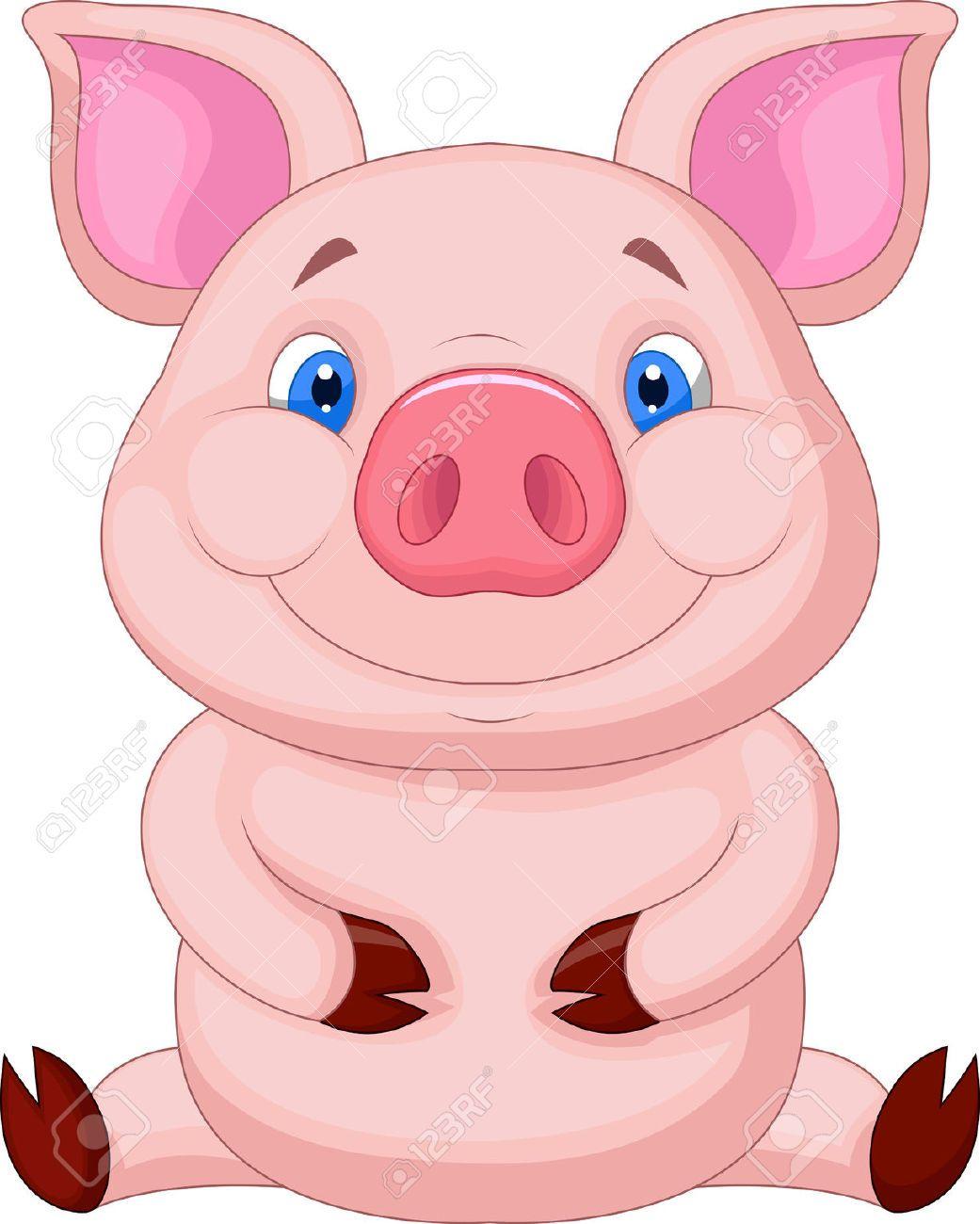 Cute Baby Pig Cartoon Sitting Royalty Free Cliparts Vectors And Stock Illustration Image 23007404 Pig Cartoon Baby Pigs Cute Baby Pigs