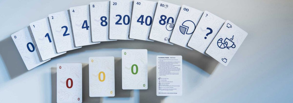 Instructions For Planning Poker With Planning Poker Cards Template Card Template Planning Poker Poker Cards