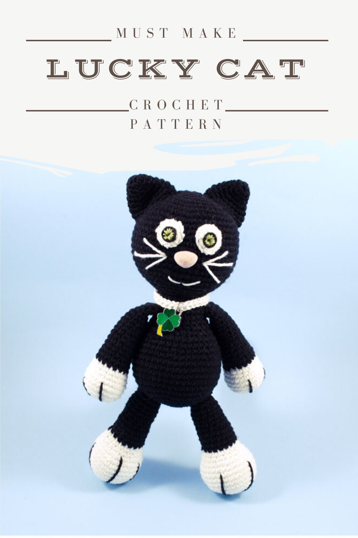 Crochet Black Cat Pattern, Amigurumi Cat PDF, Crochet