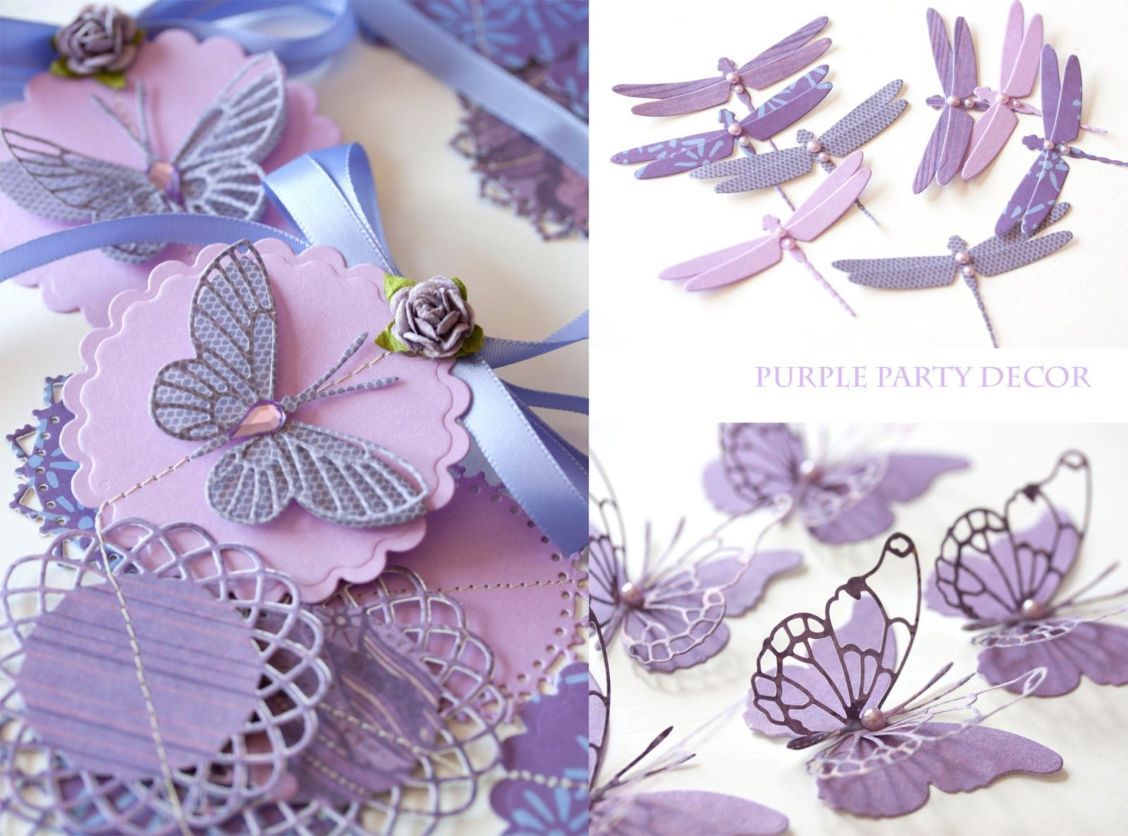 How to make scrapbook decorations - Purple Party Decorations Craving For More Cards To Make