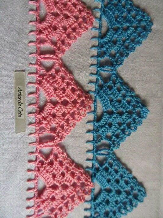 Pin De Nell Williamson Em Crochet Bicos De Croche Simples