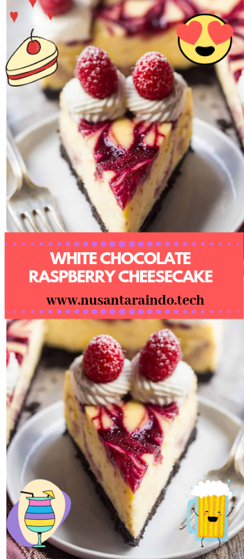 WHITE CHOCOLATE RASPBERRY CHEESECAKE #whitechocolateraspberrycheesecake WHITE CHOCOLATE RASPBERRY CHEESECAKE #whitechocolateraspberrycheesecake