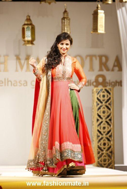 Parineeti walks at Dubai Fashion Week for Manish Malhotra   Pinterest