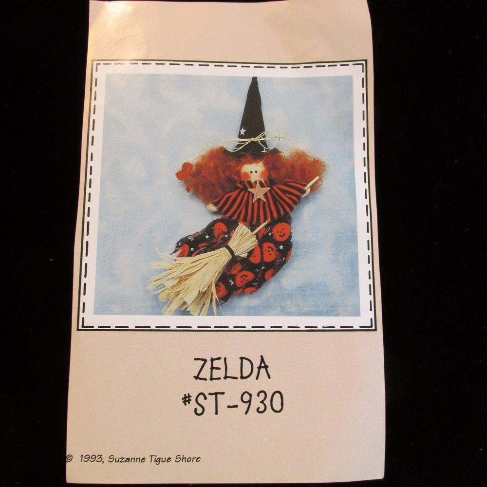 Zelda The Witch Doll Pattern Soft Sculpture Primitive