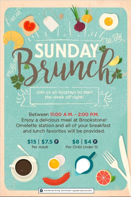 Sunday Brunch Event Flyer Poster Template