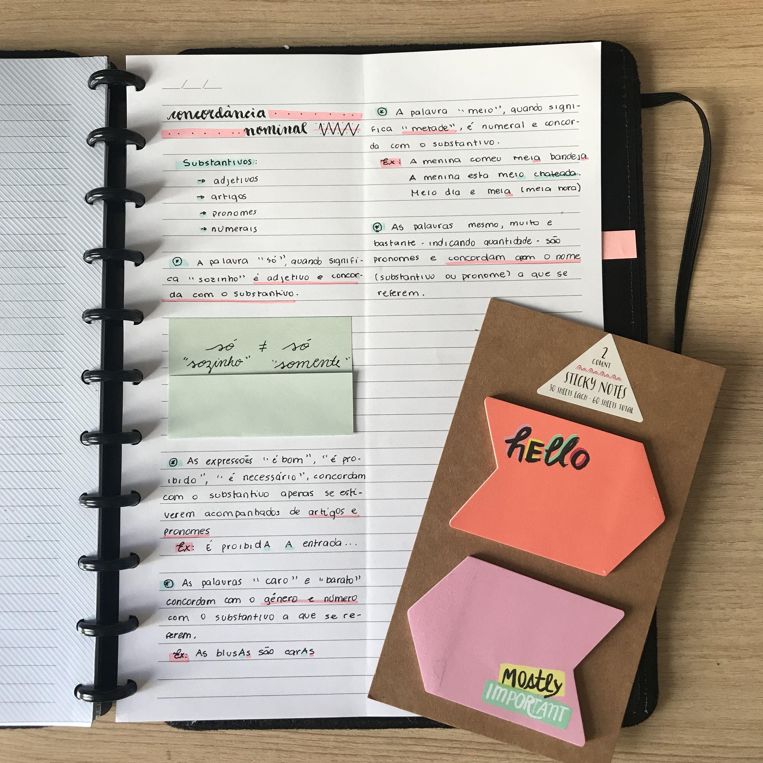 Caderno Inteligente Post Its Insta Anavi Studies Cadernos E