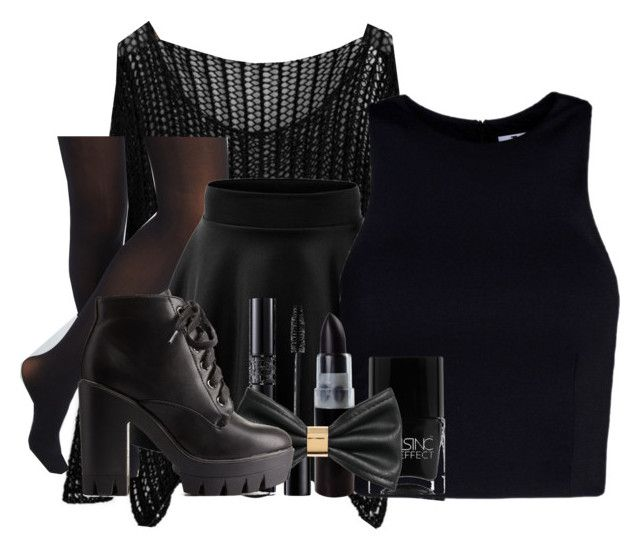 """""""Partners in Crime: The Dark One"""" by mypassionisfashion66 ❤ liked on Polyvore featuring T By Alexander Wang, Christian Dior, Nails Inc., H&M, Charlotte Russe and BelliesSets"""