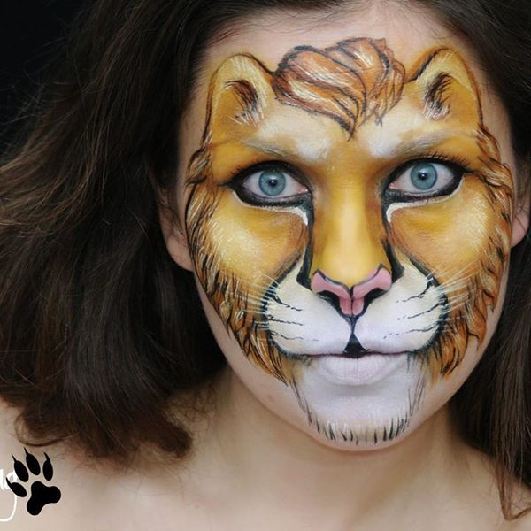 Lion Face paint by Ksenia                                                                                                                                                                                 More