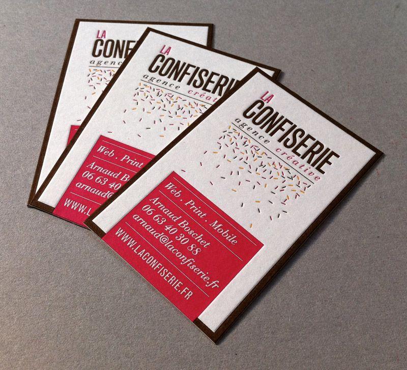 Love The Design Carte De Visite Letter Press