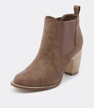 Verali Gia Taupe Tumble Women Shoes Boots Ankle Boots Heels