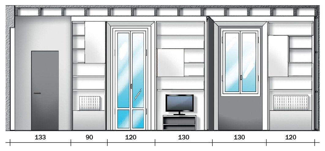 Casa piccola 35 mq con ambienti trasformabili e 6 comode for Progetto casa piccola