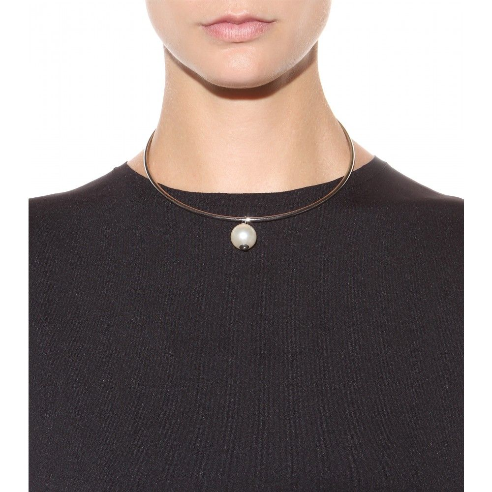 mytheresa.com - Necklace with faux pearl - Necklaces - Jewellery - Accessories - Luxury Fashion for Women / Designer clothing, shoes, bags
