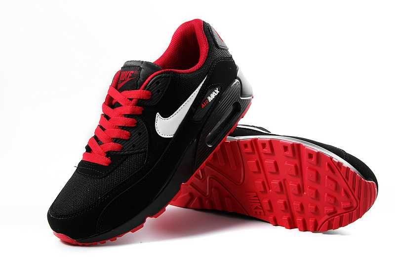 finest selection 2f4a6 82dc1 1767   Nike Air Max 90 Herr Dam Herr Svart Röd SE206272pklYh