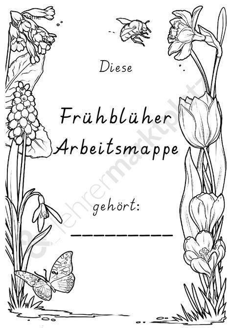 Frühblüher Arbeitsmappe | SU | Pinterest | Schule, Frühling und ...