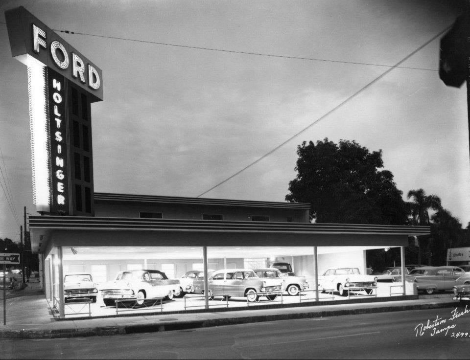 55 Ford Dealer... Car dealership, Dealership, Car showroom