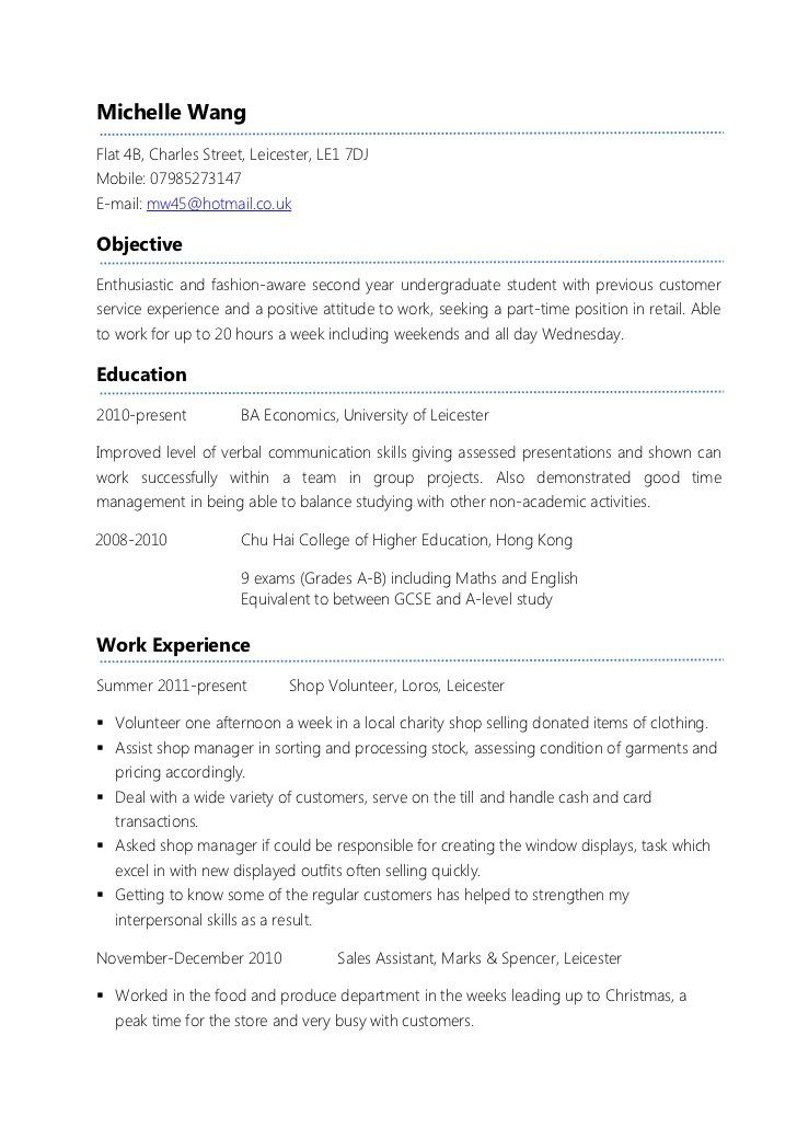 Resume For Student Looking For Part Time Work - The best expert\u0027s