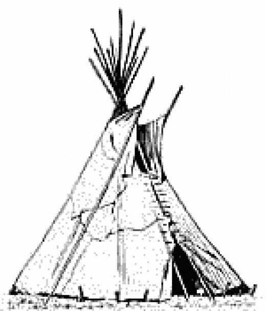 native american tipi coloring pages - photo#16