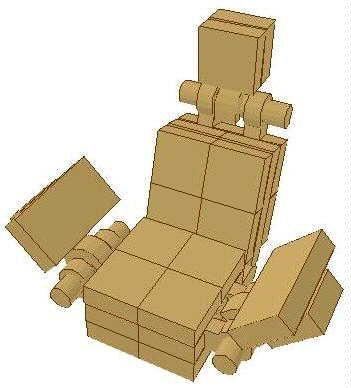 Lego pilot's seat I found on Brickshelf