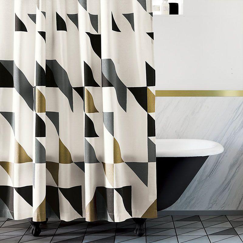 Geometric Stylish Shower Curtain For A Modern Bathroom