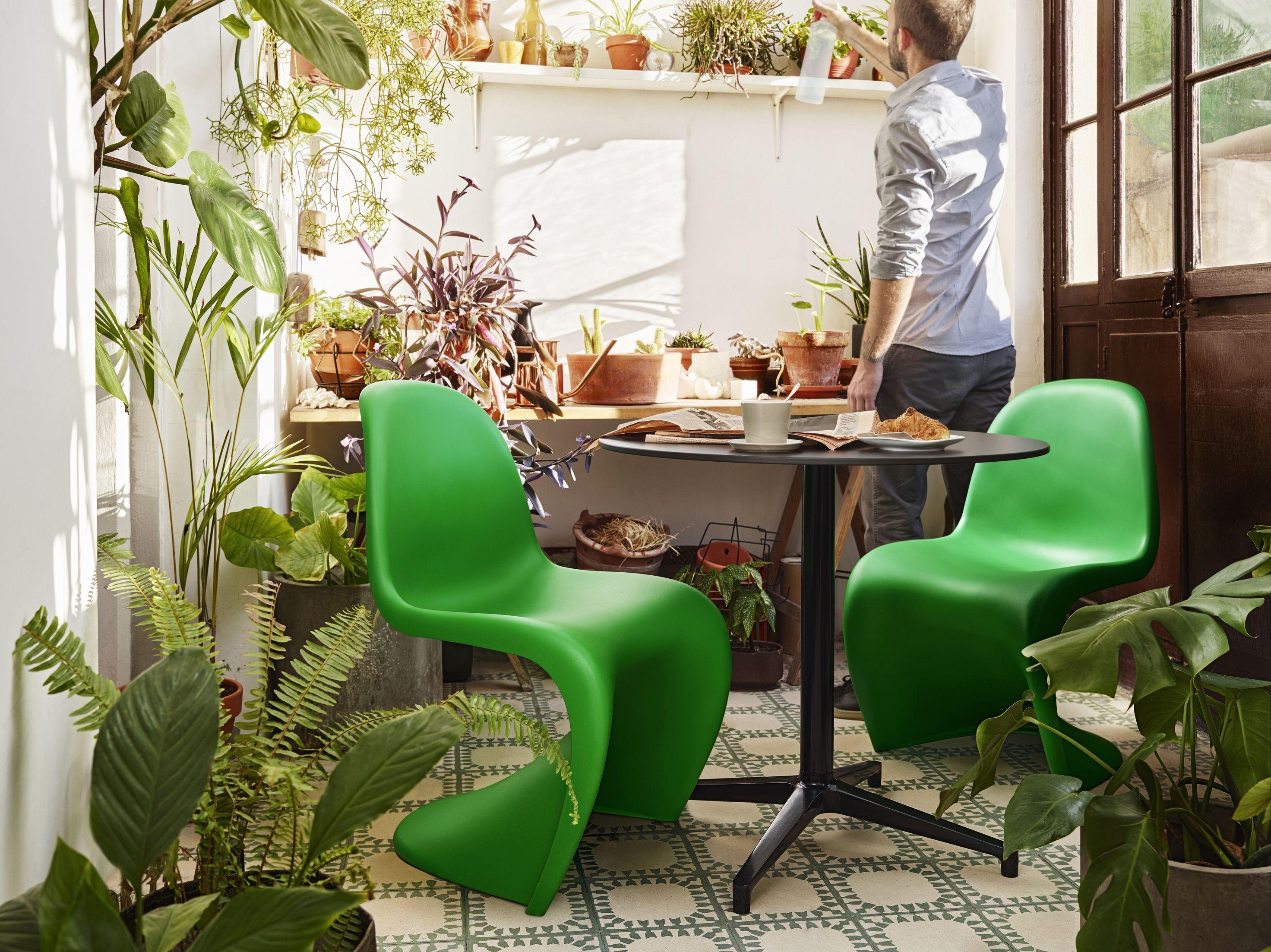 Sillas Panton Summer Edition Por Verner Mesa Bistro Table Diseñada Ronan Erwan Bouroullec