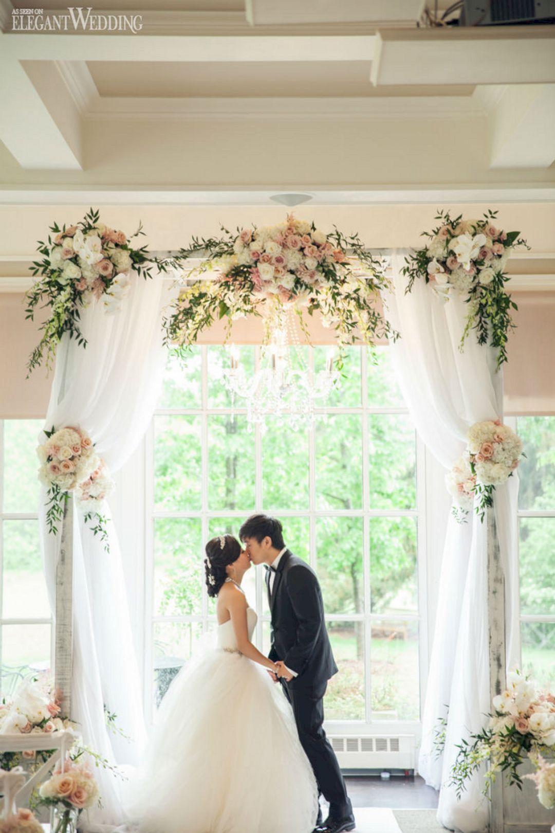 40+ Beautiful White Indoor Wedding Ceremony Ideas You Need