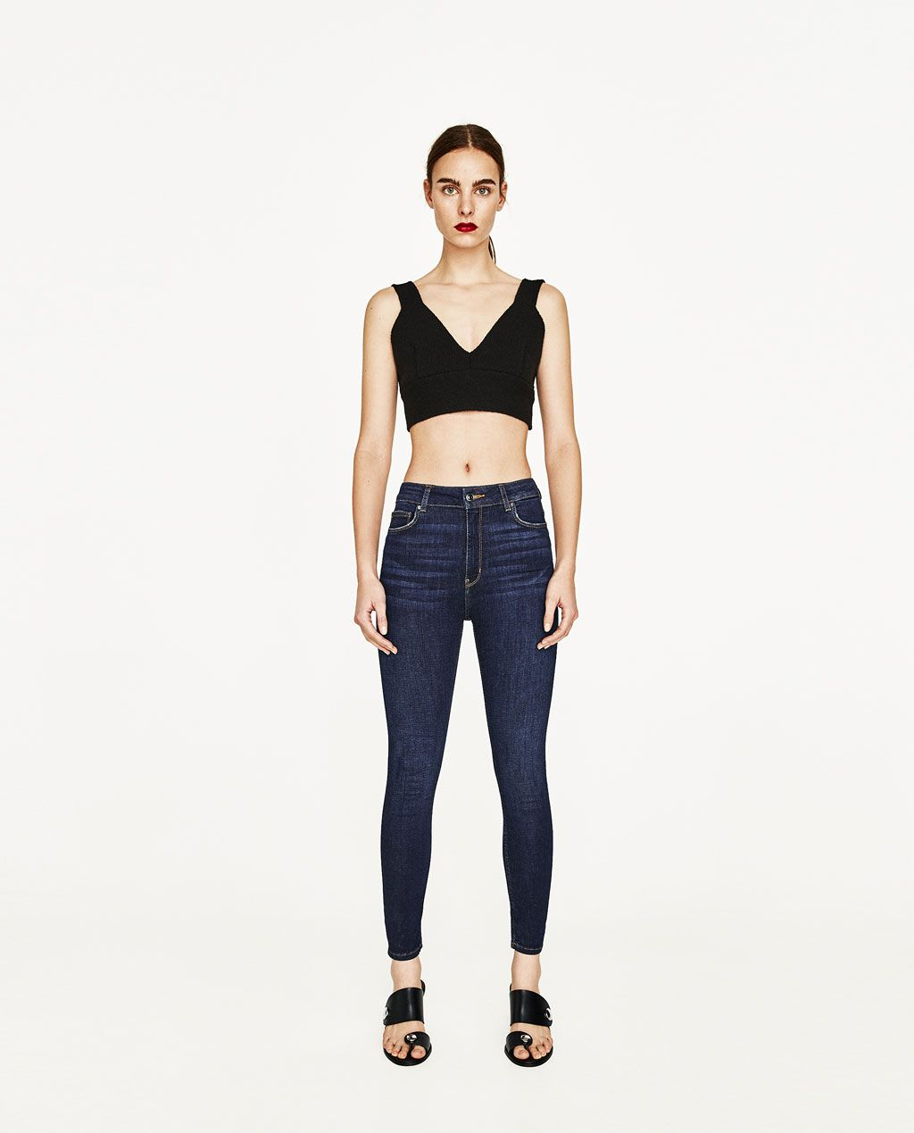bc49c01f40 Image 1 of HIGH RISE SKINNY JEANS from Zara | shopping ...