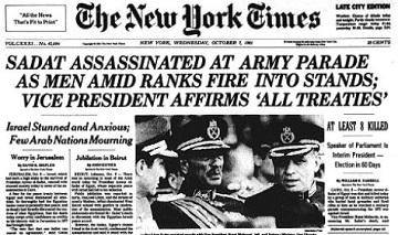 Image result for egypt's anwar sadat assassinated