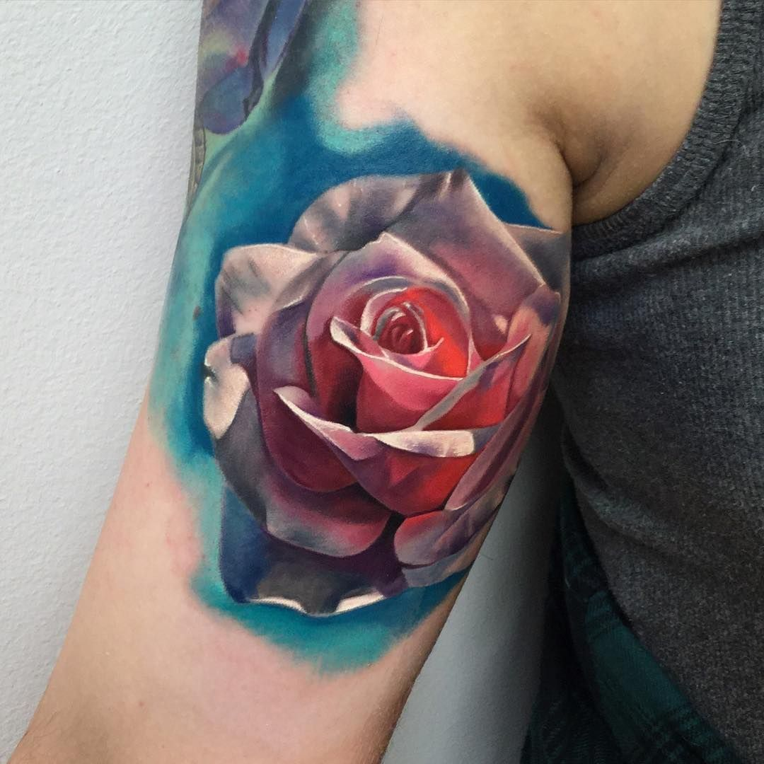 Tattoo Ideas With Roses: Realistic Rose Tattoo