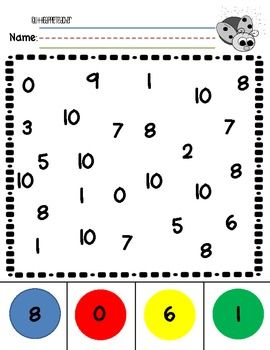 Number Recognition 0-10 Practice Worksheets | Educational Finds and ...