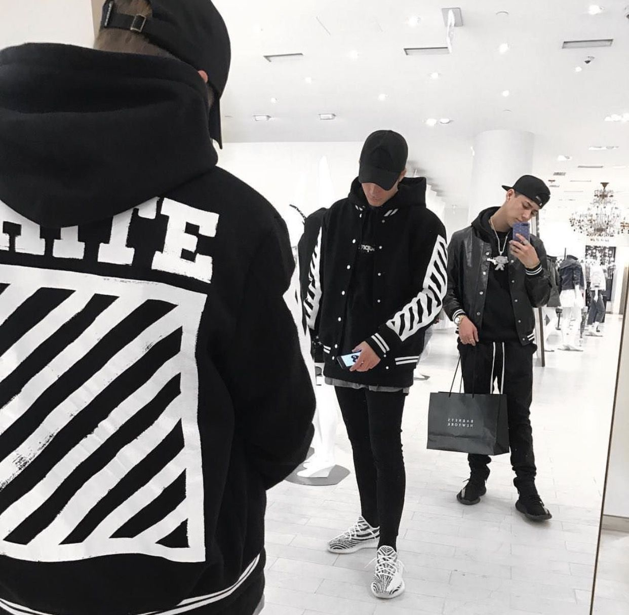 0084a4383 Off-White hoodies with Adidas Yeezy Boost 350 V2