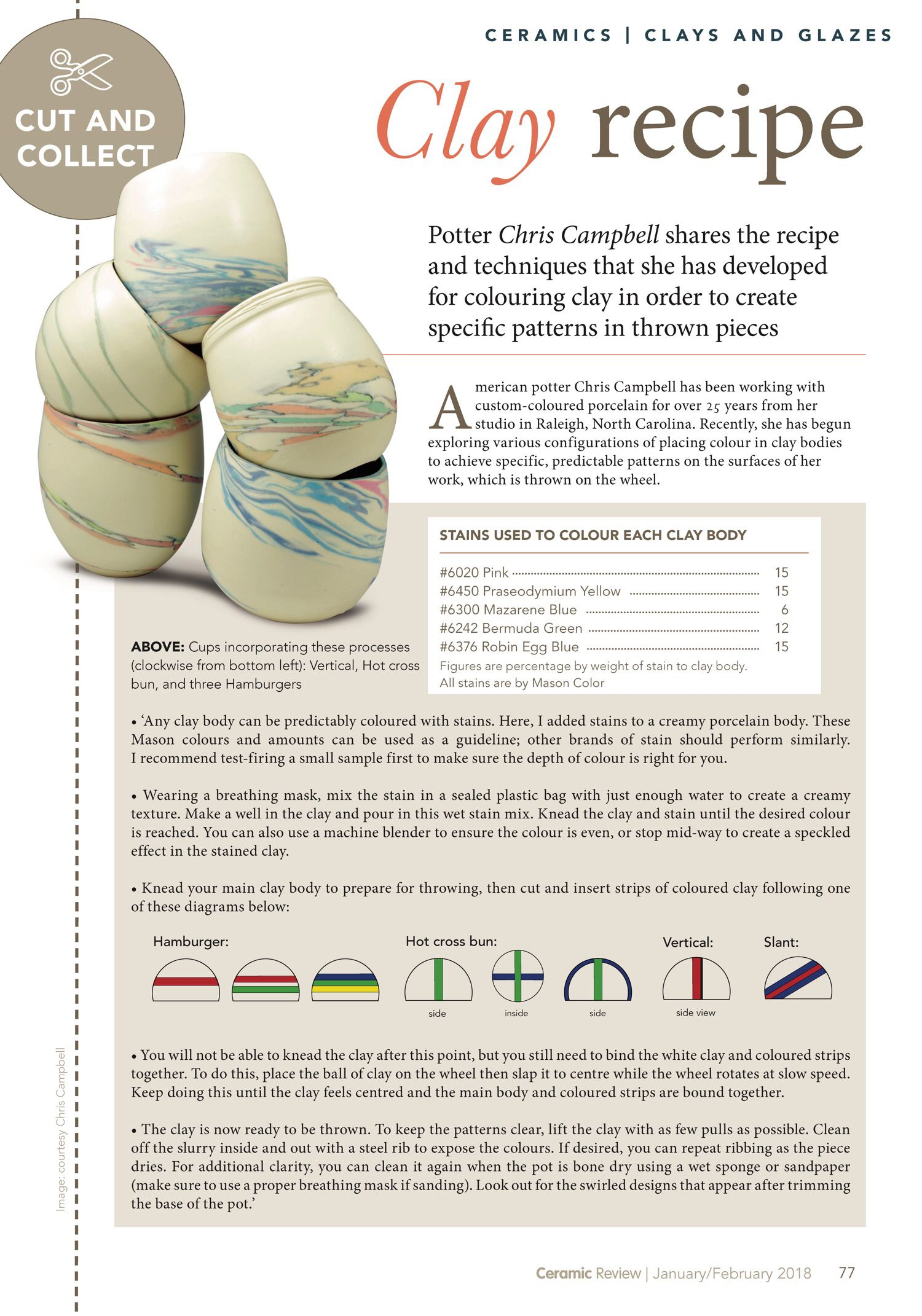 Page 77 Of Optional Ceramic Review Optional January February 2018 Pottery Techniques Clay Pottery Clay Ceramics