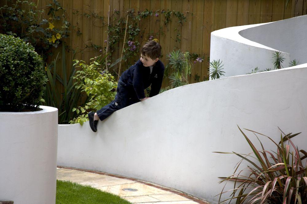 Modern Family Garden Design West London Sloped Garden Garden Design Family Garden
