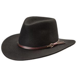 715354ae427 Stetson Bozeman Crushable Wool Cowboy Hat - Black - XL