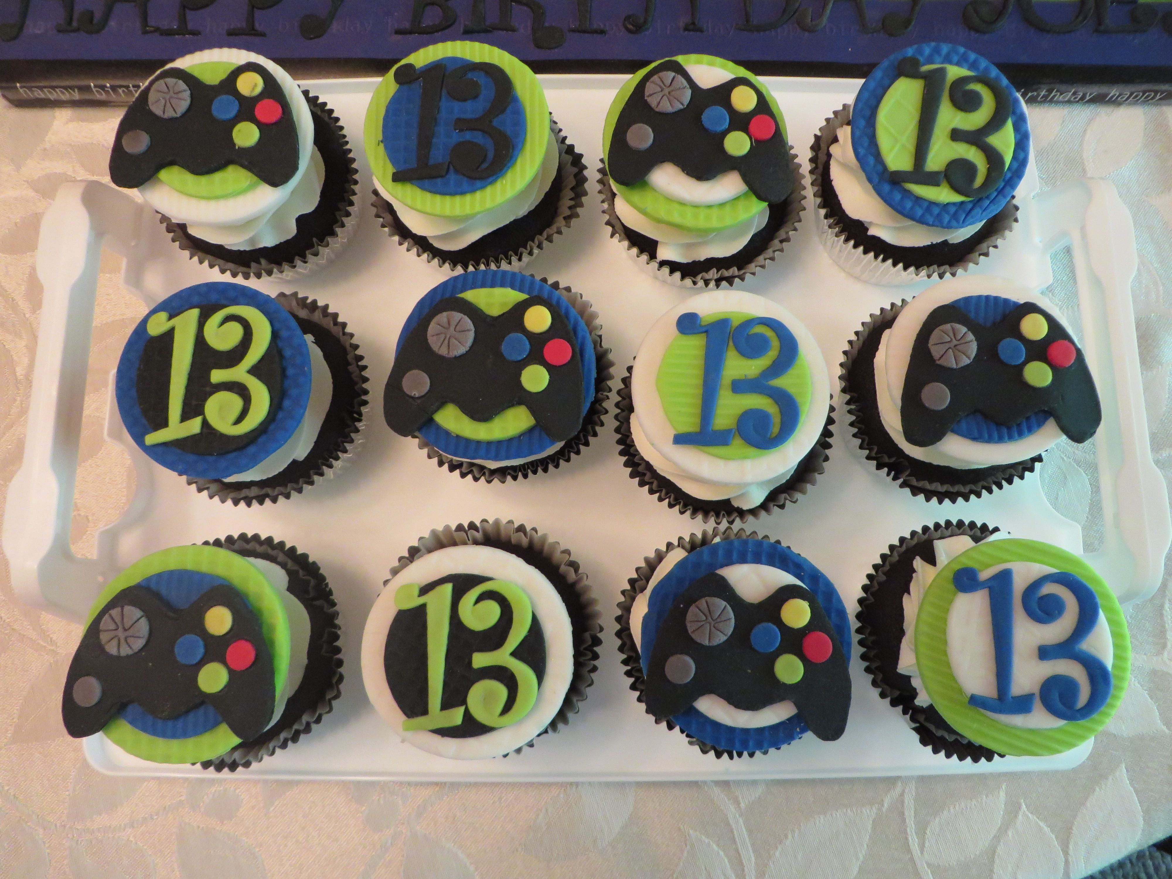 Video Game Cupcakes Video Games Birthday Party Birthday