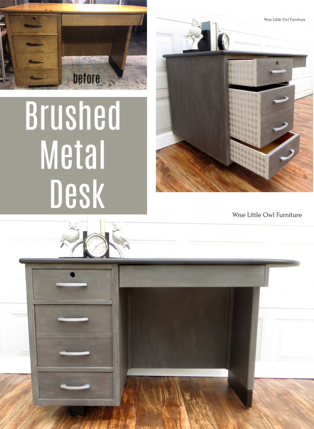 Brushed Metallic Look With Dixie Belle Paint In 2020 Painting Furniture Diy Furniture Makeover Diy Gray Painted Furniture