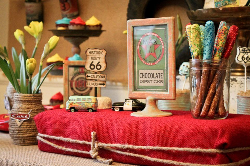 DIGITAL Vintage Radiator Springs Food Signs as seen on Karas Party