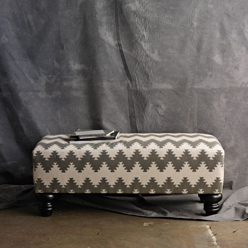 Essex Printed Bench | west elm | For the Home | Pinterest | Sillones ...