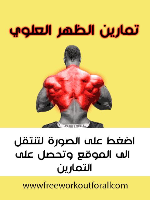 تمارين الظهر العلوي Upper Back Exercises Back Exercises Bodybuilding
