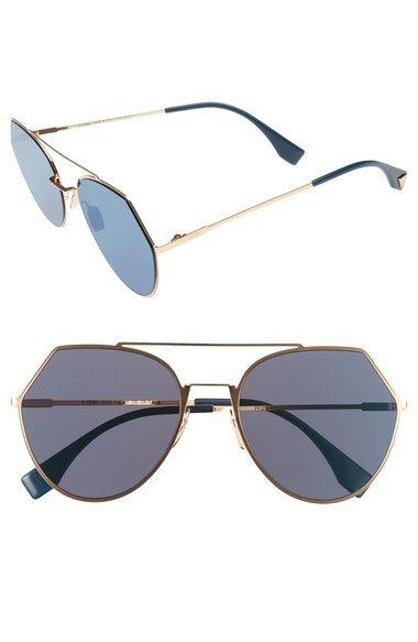 807f1157aa6de Fendi Eyeline 55mm Sunglasses available at  Nordstrom
