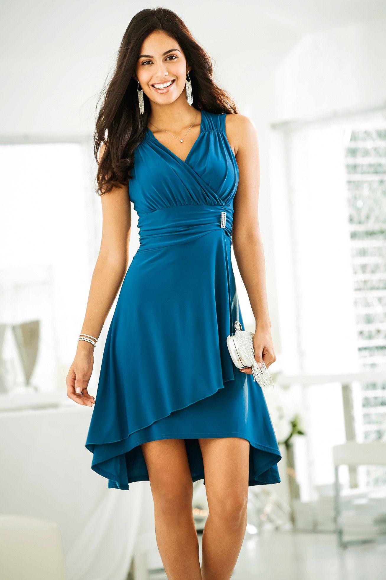 Kleid mit applikation magenta bodyflirt jetzt im online shop von ab 34 99 - Bonprix festliche kleider ...